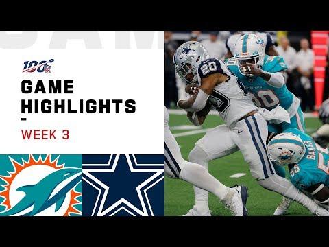 Dolphins vs. Cowboys Week 3 Highlights | NFL 2019