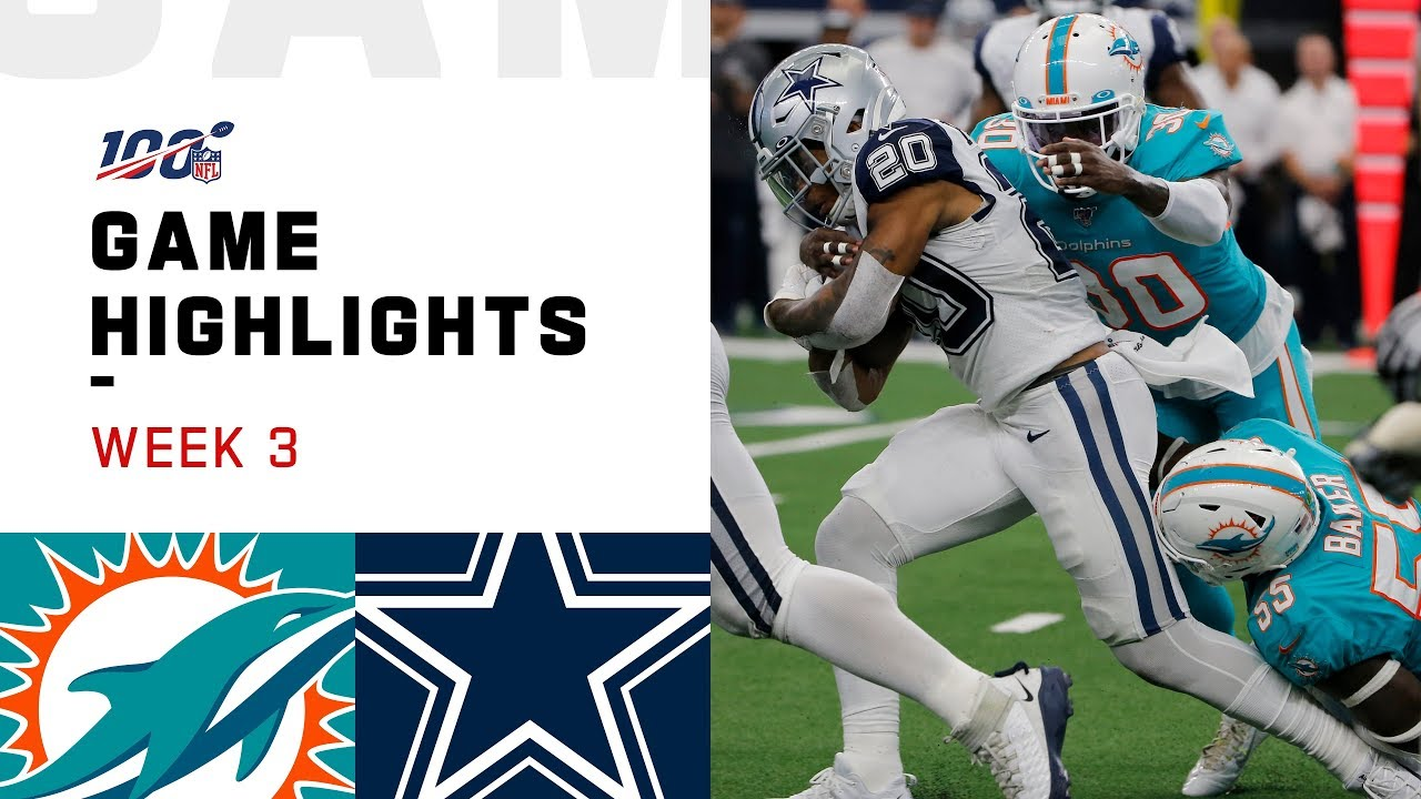 Dolphins vs. Cowboys Week 3 Highlights   NFL 2019