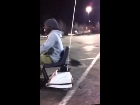 Racing In A Mobile Shopping Cart