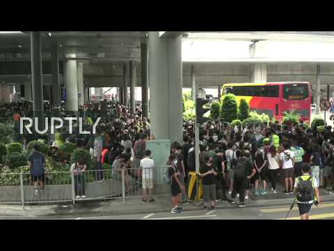 : Hong Kong protesters gather for unauthorised rally