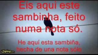 SAMBA DE UMA NOTA SÓ.- Tom Jobim e Elis Regina. (subtítulos en español).