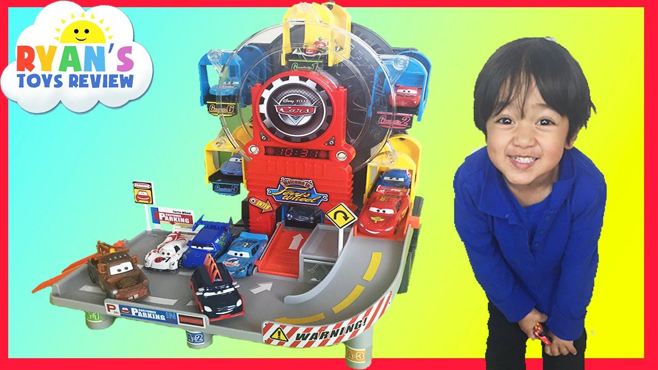 Disney Cars Toys Youtube: Disney Pixar Cars Toys Ferris Wheels Big Parking