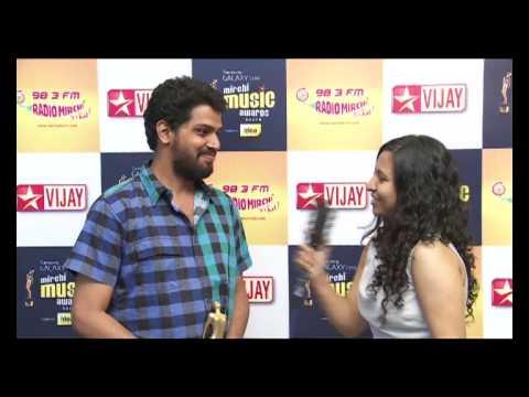 Pradeep Vijay at the Samsung Galaxy Star Mirchi Music Awards South 2012-13