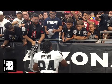 Antonio Brown suits up for the Raiders for the first time
