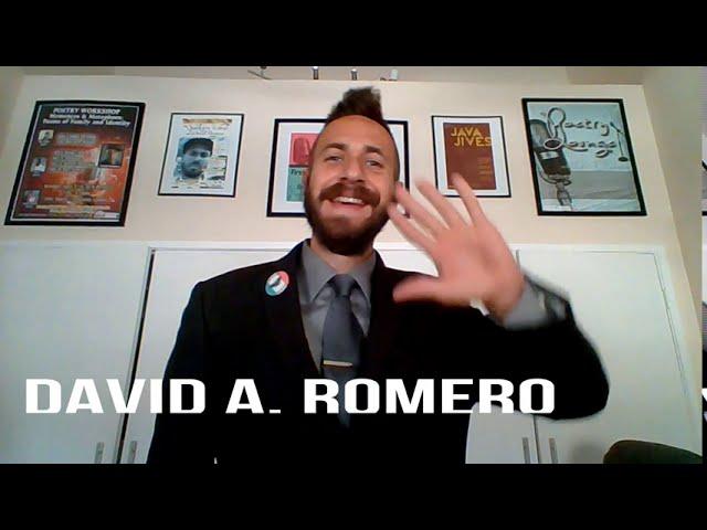 David A. Romero Spoken Word Zoom Performances