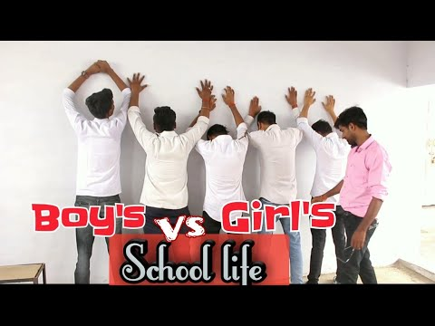 School Life || Boy's vs Girl's || School Love Story || Ft. Round2hell/r2h