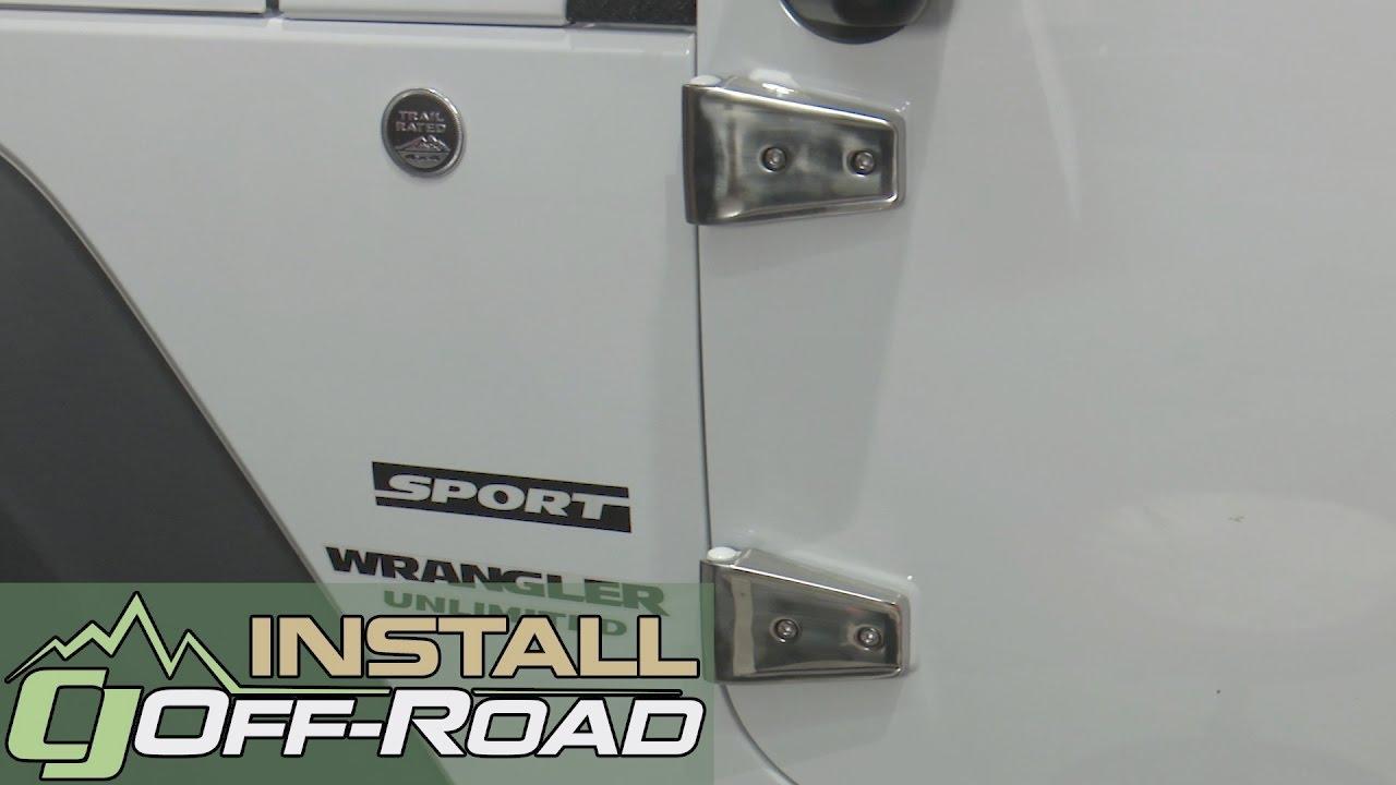 Jeep Wrangler Rugged Ridge Door Hinge Cover Stainless Steel Set 4 2007 2017 Installation