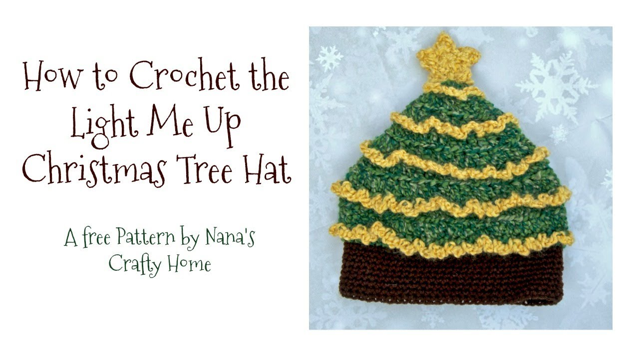 Light Me Up Christmas Tree Hat Tutorial - YouTube d872ebc7085