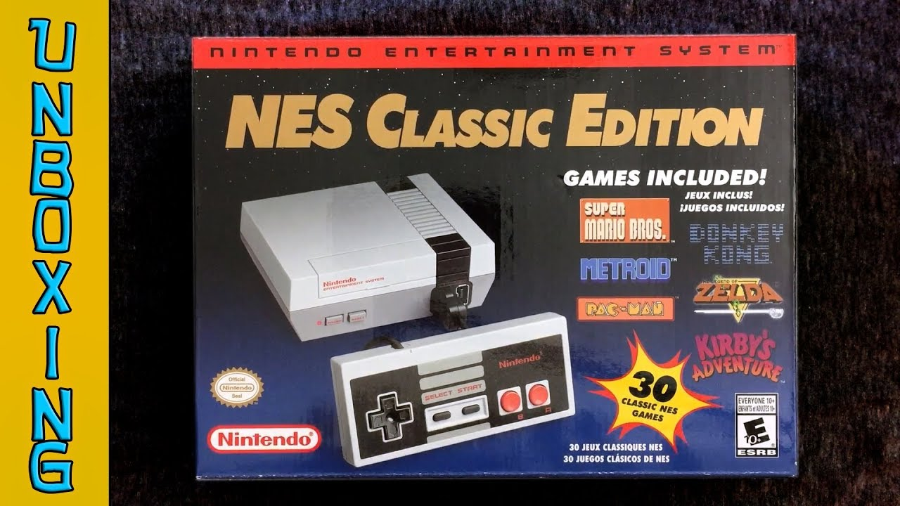 Unboxing Nintendo Nes Classic Edition Mario Donkey Kong And More