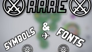 how to get rare fonts and symbols for agario rage1k
