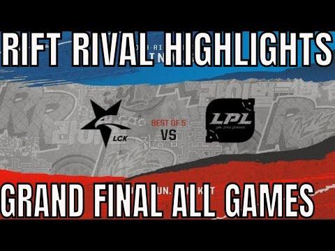 Rift Rivals Grand Final Highlights ALL GAMES Bo5 LCK vs LPL Rift Rivals 2019