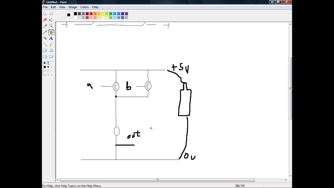 circuit diagram for and or and not gates [ 1280 x 720 Pixel ]