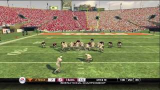 NCAA Football 10 - BCS Championship Game - Texas vs Alabama (HD)