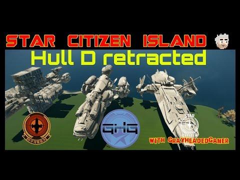 Star Citizen Island - Hull D retracted