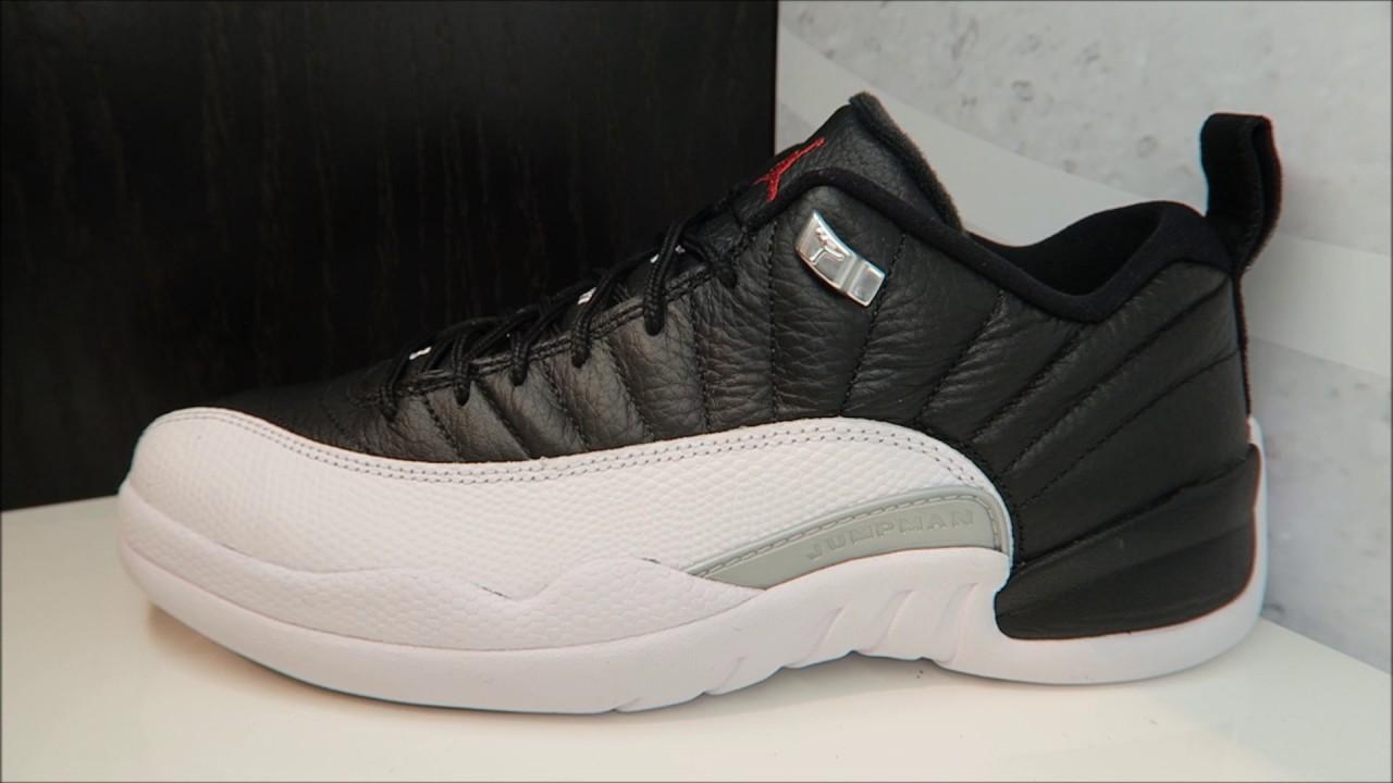 official photos c5897 27c55 Air Jordan 12 Playoff Low 2017 Retro Sneaker Review