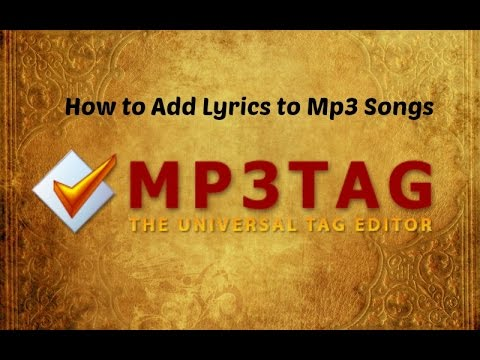 ADD LYRICS TO SONGS USING MP3 TAG | 720P HD | GOKUL TUTORIALS