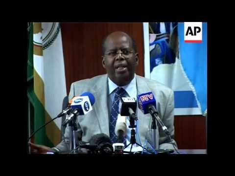 African Union news conference on suicide attack in Somalia