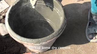 Story Of Concrete Flower Pot