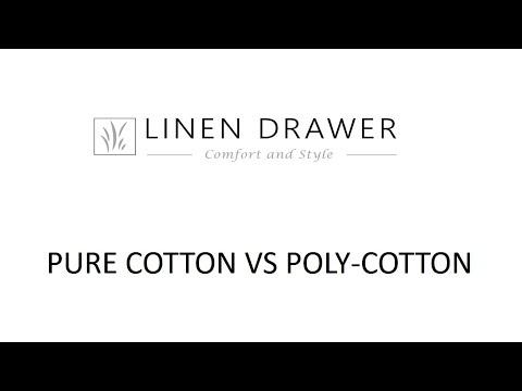 Linen Drawer - Pure Cotton vs. Poly - Cotton