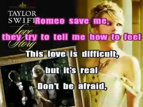 Taylor Swift Love Story karaoke instrumental with lyrics