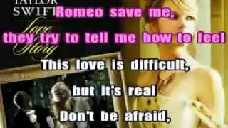 Taylor Swift- Love Story karaoke instrumental with lyrics.