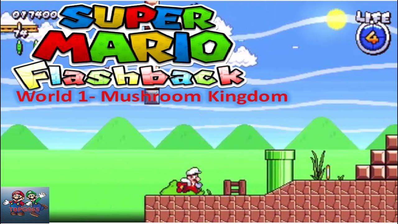 Super Mario Flashback World 1 Mushroom Kingdom Gameplay Youtube