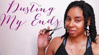 NATURAL HAIR | Dusting My Ends + Length Check Thumbnail