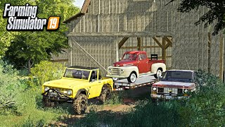 OLD BARN FIND! HASN'T BEEN TOUCHED IN 20+ YEARS (FOUND OLD TRUCKS) | FARMING SIMULATOR 2019