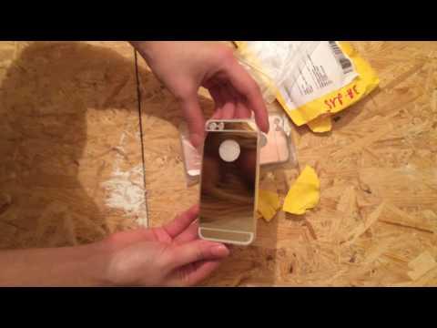 Распаковка-обзор: силиконовые зеркальные чехлы на iPhone 5 S с Aliexpress