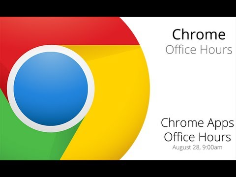 Chrome Apps Office Hours: Chrome Storage APIs