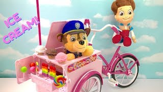 Learn Colors with Paw Patrol Ice Cream Truck Bike Bicycle Lollipops   Fizzy Fun Toys