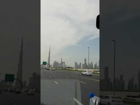 Dubai downtown drive view l #Shotrs #youtubeshorts
