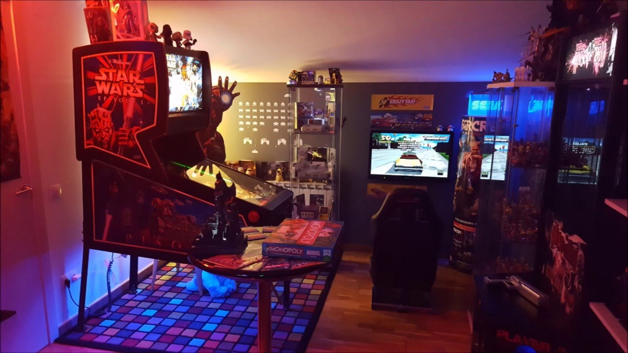 My arcade gaming room mi habitacion gamer youtube - Habitacion gaming ...