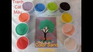 Đồ chơi trẻ em TÔ MÀU TRANH CÁT HÌNH cái cây  Color Sand Painting