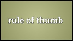 Rule of thumb Meaning