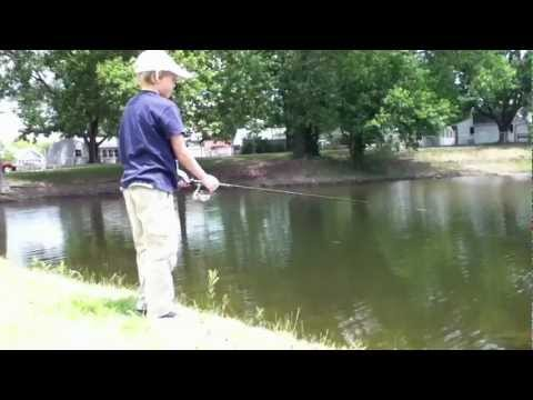 Fishing on the Three Lakes in Vincennes, Indiana