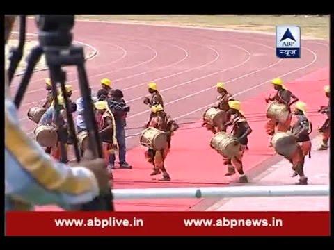Rio Olympics silver-medalist PV Sindhu welcomed at Gachibowli stadium, Hyderabad