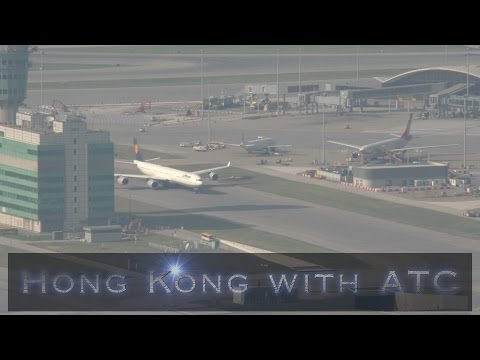 Hong Kong Airport Location spotting with atc part 3