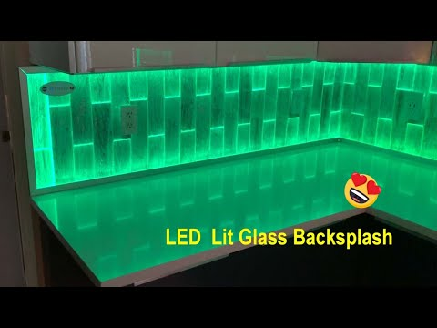 Amazing LED Backlit Glass Tile Backsplash, See It Installed.