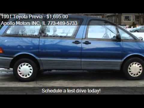 1991 toyota previa deluxe 3dr passenger van for sale in. Black Bedroom Furniture Sets. Home Design Ideas