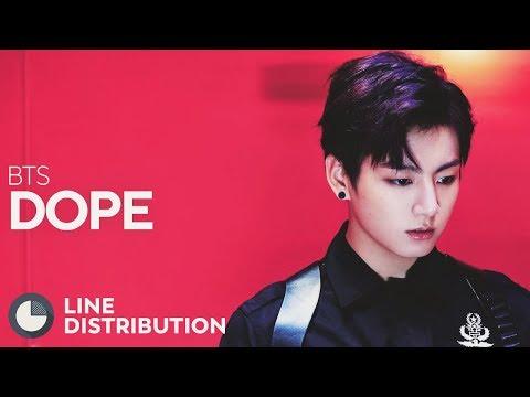 BTS - DOPE (Line Distribution)