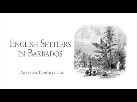 AF-119: English Settlers in Barbados