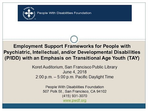 Employment Support Frameworks for People with Psychiatric and/or IDD