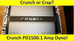 $78 for 1500W? Maybe..Maybe Not! Crunch PD1500.1 Amp Dyno and Unboxing