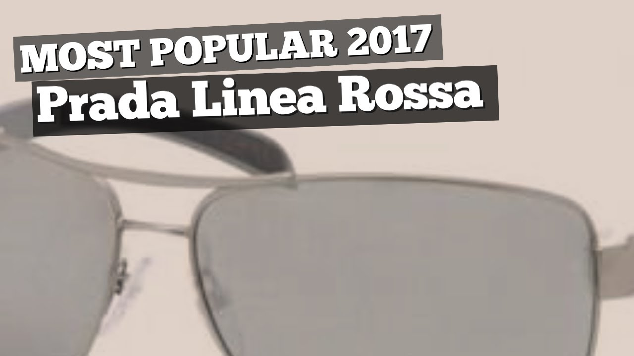 658812b905e Prada Linea Rossa Sunglasses Collection    Most Popular 2017 - YouTube