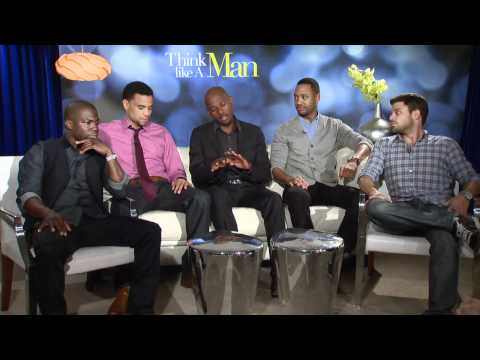 Think Like A Man Interviews - Kevin Hart, Romany Malco, Michael Ealy, Jerry Ferrara -Part 1