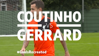 Coutinho v Gerrard | Iconic Olympiacos stunner for BT Sports' #GoalsRecreated
