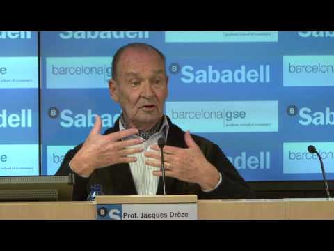 Jacques Drèze: Fiscal Integration and Growth Stimulation in Europe - Barcelona GSE Lecture XXVI