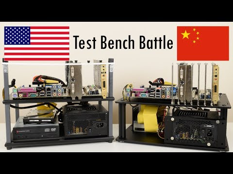Test Bench from USA vs China - HighSpeed PC Top Deck Tech Station and QDIY PC-D008