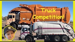 Awesome Garbage Truck Driver Competition